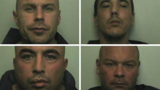 Convicted raiders Stewart Ferguson, Alan Britton, Graham Aulton and Craig Osmund-Smith