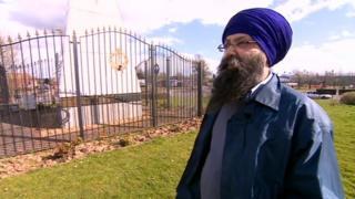 Jagdeesh Singh at the memorial