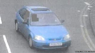 Police picture of the wanted car