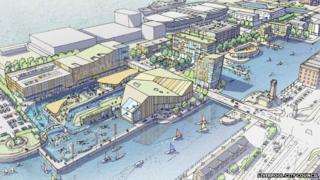Artist's impression of North Dock Liverpool redevelopment