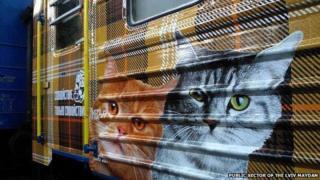 Kitten train carriage