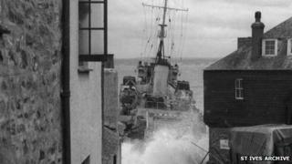HMS Wave in St Ives