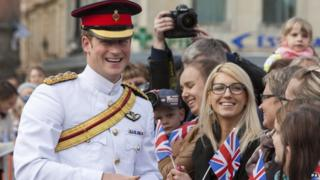 Prince Harry meeting crowds in Estonia