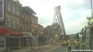 Building collapse in Norbury