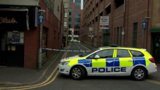 Arthur Lane was cordoned off