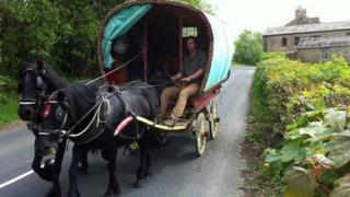Appleby Horse Fair caravan