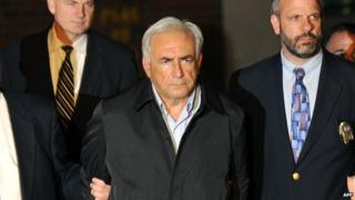 Dominique Strauss-Kahn at his arrest in New York (15 May 2011)