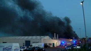 Recycling fire at Grantham