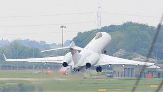 Sentinel takes off from RAF Waddington on Sunday morning