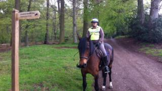 Zia Roberts on the new bridleway