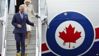Prince Charles and Camilla arriving in Canada