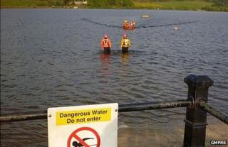 Rescue of two boys from Hollingworth Lake