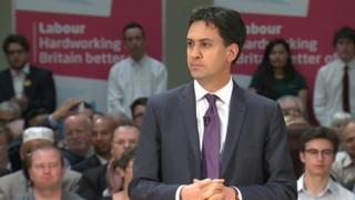 Ed Miliband addresses party activists