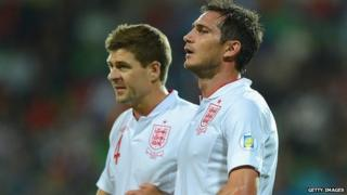 England captain Steven Gerrard (left) and vice-captain Frank Lampard