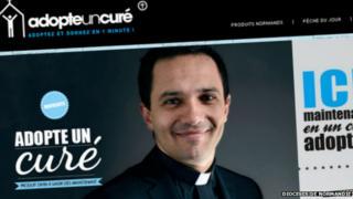 The Adopt a Priest website