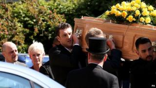 Nino Severino and Judy Murray at Elena Baltacha's funeral