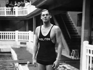 Johnny Weissmuller, at Piscine Molitor in June 1930