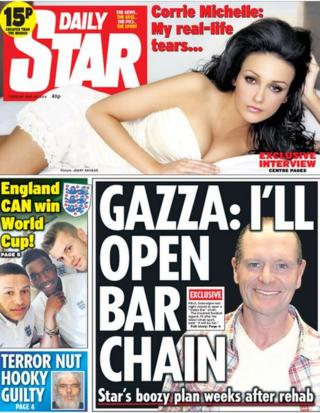 The Star front page