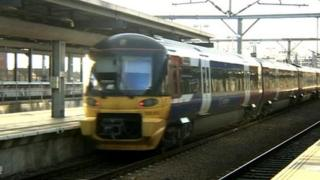 Train at Leeds station