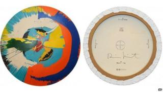 Faked Damien Hirst spin painting