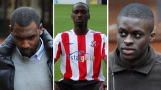 Hakeem Adelakun (left), Moses Swaibu (centre), Michael Boateng (right)