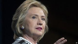 Hillary Clinton speaks in Washington, DC on 14 May, 2014.