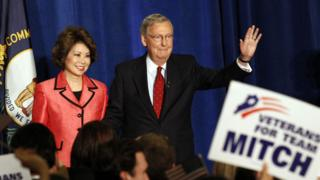 Mitch McConnell with wife Elaine Chao in Louisville