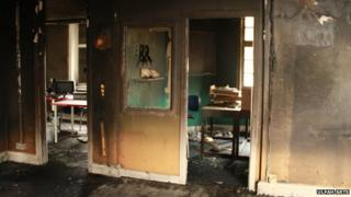 fire damage to Ulfah Arts