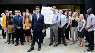Ed Miliband and activists