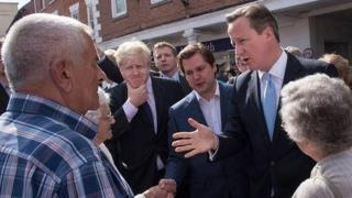 David Cameron campaigning in Newark