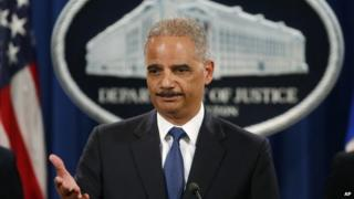 US Attorney General Eric Holder at a press conference in Washington on 19 May, 2014.