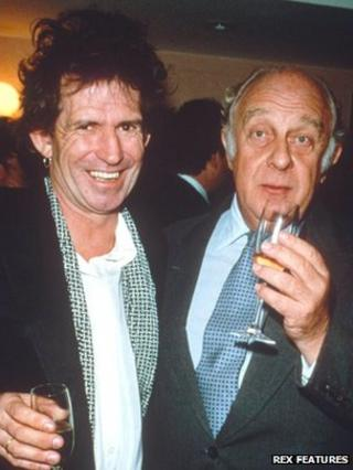 Prince Rupert Loewenstein with Keith Richards