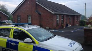 """Police said there had been an """"incident"""" at a house in Lisburn"""