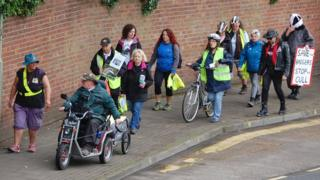 Walkers begin The Great Badger Trail in Gloucester