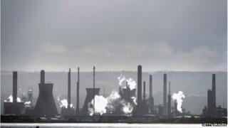 Factories belching Carbon Dioxide