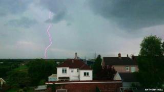 Lightning in Port Talbot
