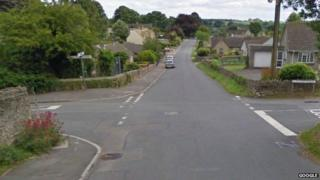 Junction of Middle Hill and Burcombe Road in Chalford
