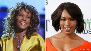 Whitney Houston and Angela Bassett composite