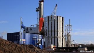 Shale gas rig