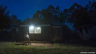 Lights on in M-Kopa equipped house