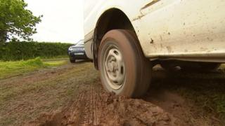 Muddy track at Devon County Show