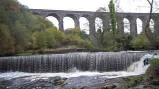 Weir on Taff Fawr