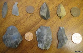 Land's End excavation objects. Pic: Land's End