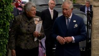 Prince Charles in Northleach