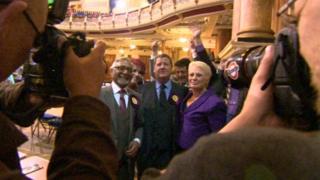 UKIP MEPs celebrate in Leeds