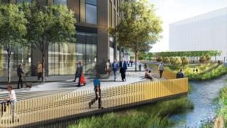 An artist's impression of Confluence Place