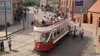 A tram at Beamish, Living Museum of the North