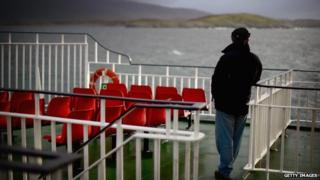 Passenger on Western Isles ferry
