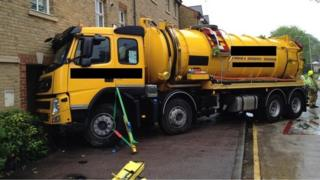 Lorry crashed into flats in Berkhamsted