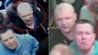 Images of men police want to trace